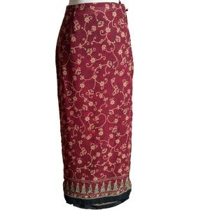 Emma James Long wrap around tie skirt, fully lined